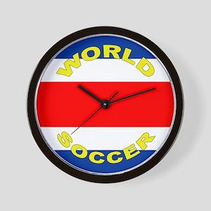 Costa Rica World Cup Soccer Wall Clock