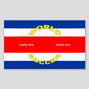 Costa Rica World Cup Soccer Rectangle Sticker
