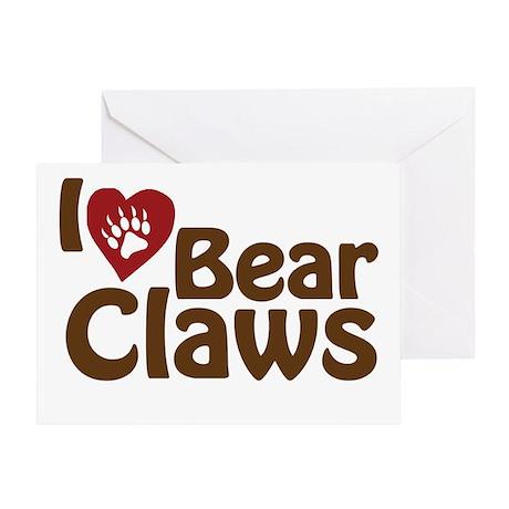 I Love Bear Claws Greeting Card