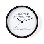 Serial Comma Wall Clock