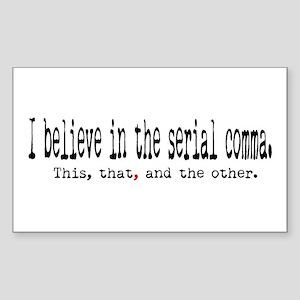 Serial Comma Rectangle Sticker