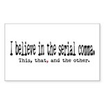 Serial Comma Rectangle Sticker 10 pk)