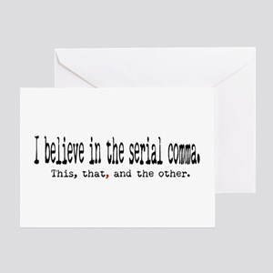 Serial Comma Greeting Card