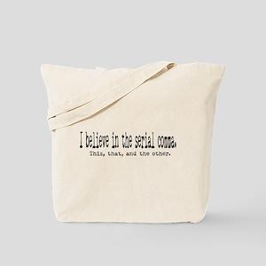 Serial Comma Tote Bag