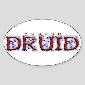 Modern Druid Oval Sticker