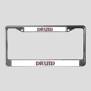 Modern Druid License Plate Frame
