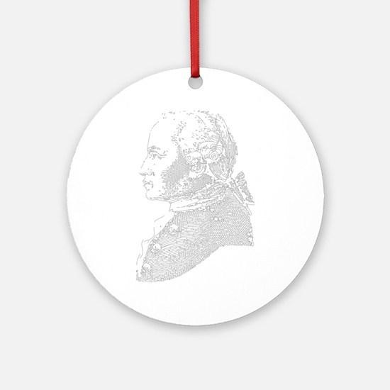 Immanuel Kant Ornament (Round)