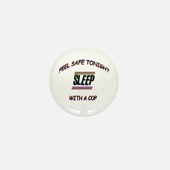 Unique Sleep with a cop Mini Button