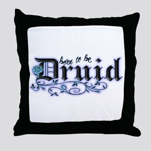 Born to be Druid Throw Pillow