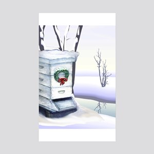 Winter Hive Sticker (Rectangle 10 pk)