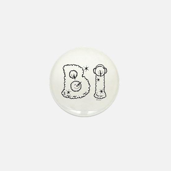 Bi Snowmen Mini Button