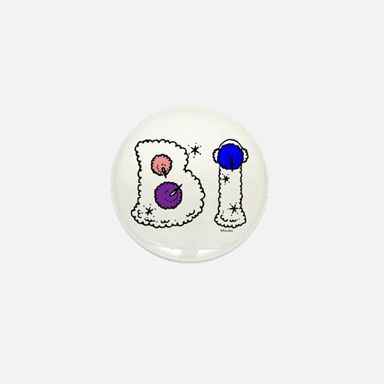 Bi Snowmen Bi Colors Mini Button