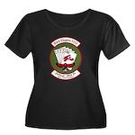 EAA1114 Women's Plus Size Scoop Neck Dark T-Shirt