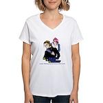 DAS Classic Mascot Women's V-Neck T-Shirt
