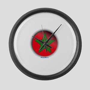 Morocco - Heart Large Wall Clock
