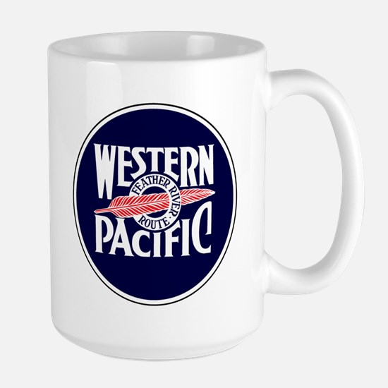 Round Feather River Route logo Mugs
