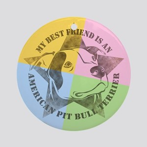 My Best Friend (Color) Ornament (Round)