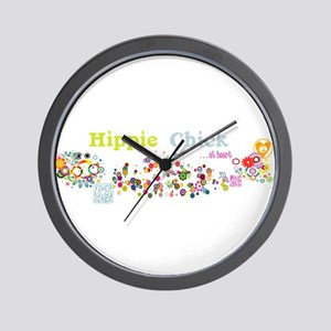 Hippie Chick at Heart Wall Clock
