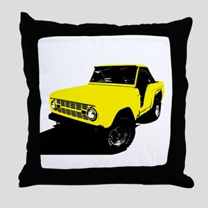 Yellow Bronco Throw Pillow