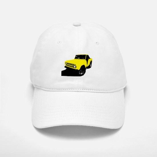 Yellow Bronco Baseball Baseball Cap