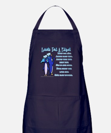 Lessons from a penguin Apron (dark)