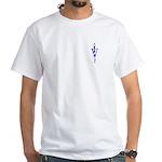 Veterinary Symbol/Anti-Animal Abuse White T-Shirt