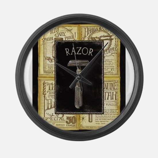 Funny Barber shop Large Wall Clock