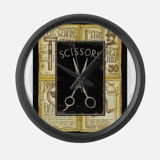 Cool Barber shop Large Wall Clock