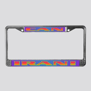 CAN IRAN! License Plate Frame