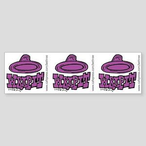 Condom Wrap It (right) Bumper Sticker