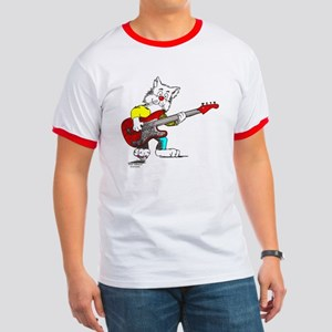 Catoons™ Bass Guitar Cat Ringer T