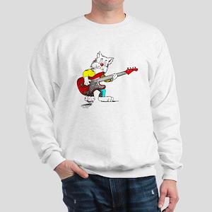 Catoons™ Bass Guitar Cat Sweatshirt