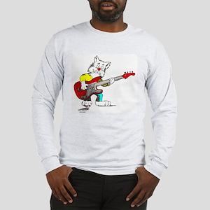 Catoons™ Bass Guitar Cat Long Sleeve T-Shirt
