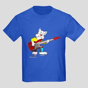 Catoons™ Bass Guitar Cat Kids Dark T-Shirt
