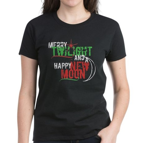Twilight New Moon Christmas Women's Dark T-Shirt