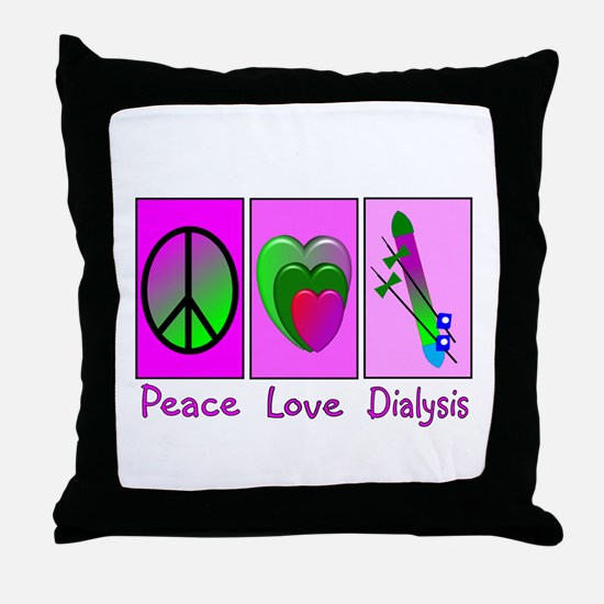 Cute Dialysis patient Throw Pillow