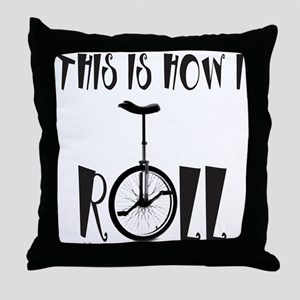 UNICYCLE/UNICYCLIST Throw Pillow