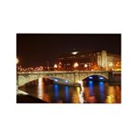 Nighttime on Bridge. Rectangle Magnet (10 pack)