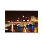 Nighttime on Bridge. Rectangle Magnet