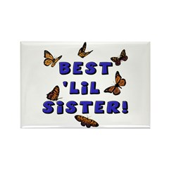 Best 'Lil Sister! Rectangle Magnet (10 pack)