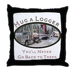Hug a Logger - Kenworth Throw Pillow