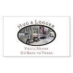 Hug a Logger - Kenworth Rectangle Sticker