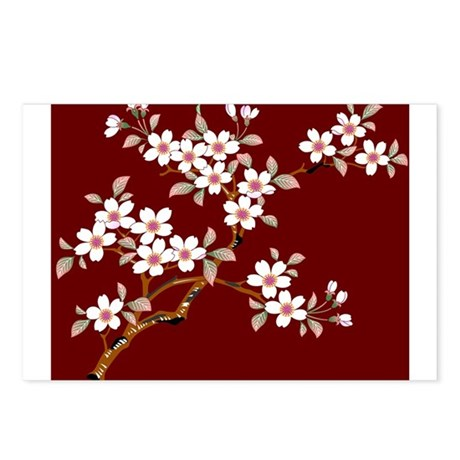 Japanese textile Cherry tree Postcards (Package of