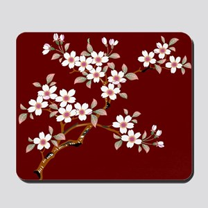 Japanese textile Cherry tree Mousepad
