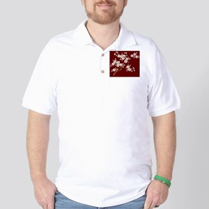 Japanese textile Cherry tree Golf Shirt