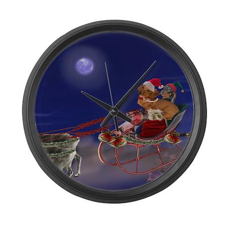 Sleigh Ride Large Wall Clock