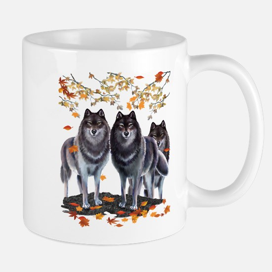 Wolves In Fall Mug