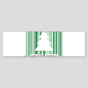 Merry Christmas Barcode Bumper Sticker