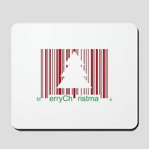 Merry Christmas Barcode Mousepad