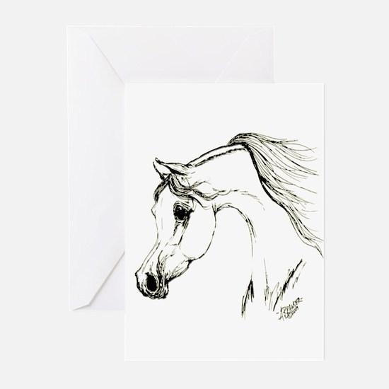 Cute Mustang humor Greeting Cards (Pk of 20)